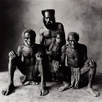 father, son, grandfather and great grandfather (new guinea) by irving penn