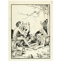 illustrations for tales of old greece (various sizes; set of 16) by helen jacobs