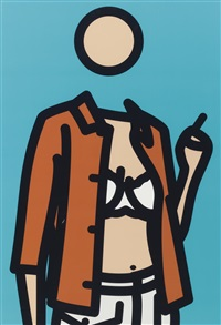 ruth with cigarette, 1 (from ruth with cigarette) by julian opie