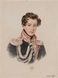 portrait of count nikolai alexandrovich samoilov by petr fedorovich sokolov