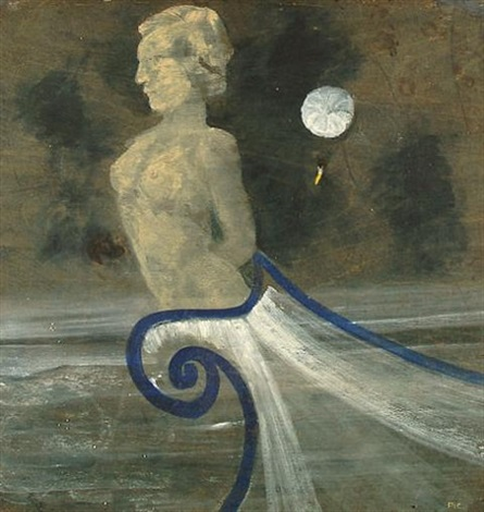 figure head with moon by charles s pic higgins