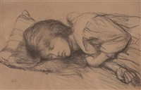 sleeping girl by sir george clausen