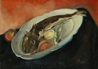 nature morte au poisson by leopold-levy
