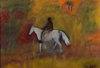 horse and rider by nichola alice (nicki) leigh