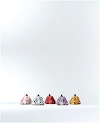 pumpkin (a set of 5) by yayoi kusama