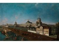 ansicht eines spanischen barockpalastes (könglicher palast von aranjuez) by francesco battaglioli