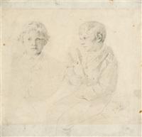 zwei knaben, einer mit stiefelknecht by wilhelm maria hubertus leibl