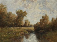 river landscape by peter edward rudell