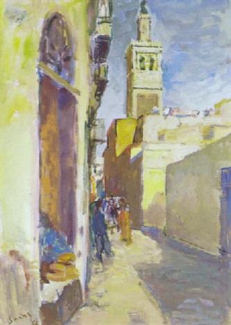 rue des teinturiers à tunis by henri saada
