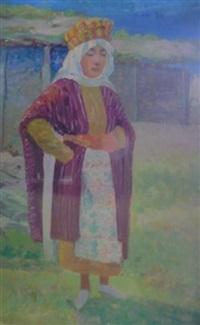 femme du caucase by evgeniy ivanovich pospolitaki