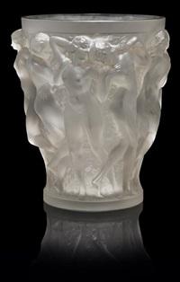 vase: bacchantes by rené lalique