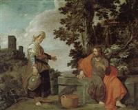 christus und die samariterin am brunnen by pieter lastman