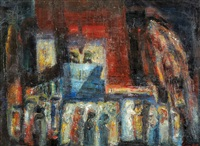 worshippers at the synagogue by isaac frenel