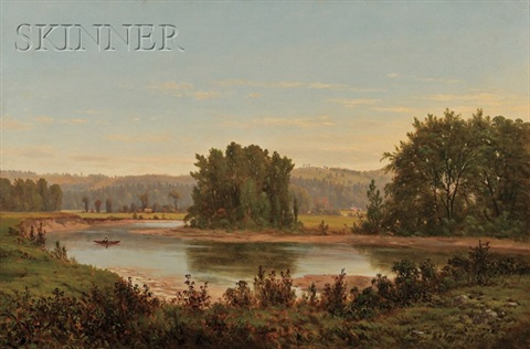 summer on an oxbow lake by george frank higgins