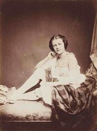jeune femme au sein nu by joseph auguste belloc