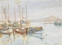 le port de pêche de tunis by n. markoff
