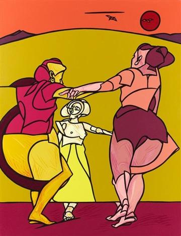folk dance si balla allest la liberta by valerio adami