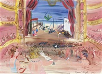 l'opéra au rideaux rouges by raoul dufy