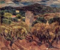 paysage aux oliviers by eugène ebiche