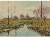 bord de rivière en automne by emile ancelet