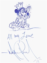a drawing of mickey mouse by michael jackson by michael jackson