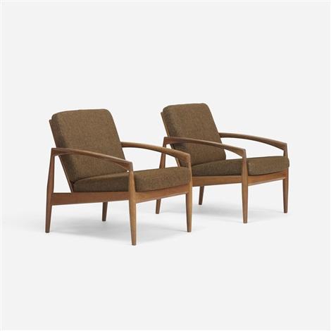 Strange Pair Of Lounge Chairs Model 121 By Kai Kristiansen On Artnet Spiritservingveterans Wood Chair Design Ideas Spiritservingveteransorg