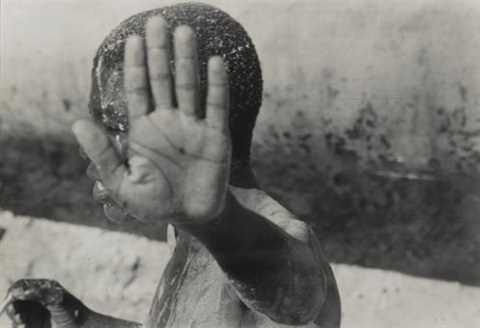 untitled boy with outstretched hand untitled clasped hands and los angeles man in doorway 3 works by leon levinstein