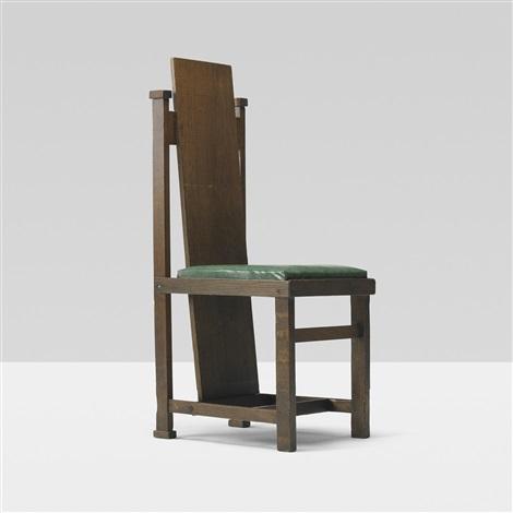 slant back chair by frank lloyd wright