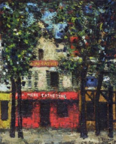 paris street scene by andré renoux