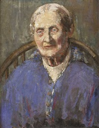 portrait of an elderly lady by enid m. fearnside