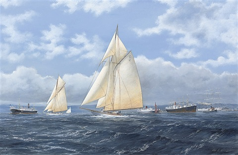 octavia and ailsa setting out for a days sail by john j holmes