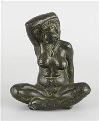 femme assise en tailleur by dagmar dadie-roberg