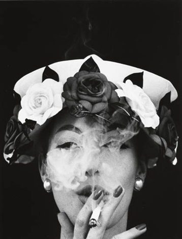 hat and five roses paris for vogue by william klein