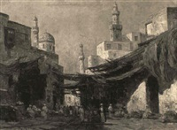 an arab market scene by r. weber