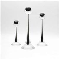 candlesticks (set of 3) by antonio da ros