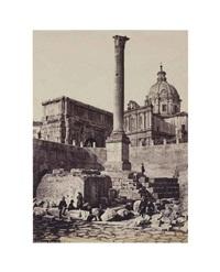 colonna foca, rome by gioacchino altobelli
