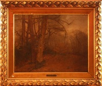 foret de fontainebleau by edmond louis marie wagrez