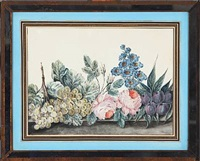 two still lifes with flowers (2 works) by christoph ludwig agricola