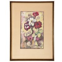 spotted petunias by blanche lazzell
