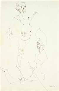personnages by leonor fini