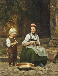 peeling potatoes by franz meyerheim