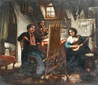the artist's studio by josef cornelius correns