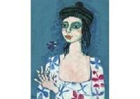 femme au beret by paul aïzpiri