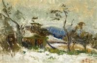 paysage de neige by joseph le tessier