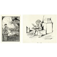 illustrations for the wild swans and other stories (various sizes; set of 31) by helen jacobs