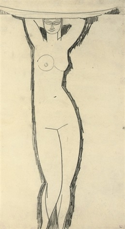 cariatide à la vasque by amedeo modigliani