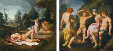 the story of apollo and marsyas another lrgr pair by agnolo bronzino
