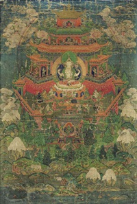 chaturbhuja lokeshvara by anonymous-tibetan (18)