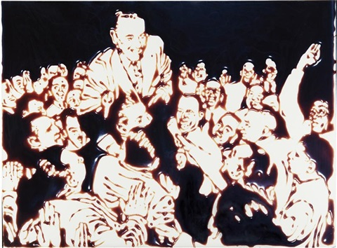 for hes a jolly good fellow from pictures of chocolate by vik muniz