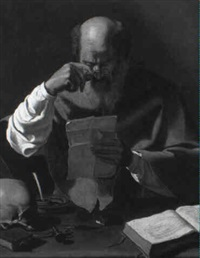 st. jerome by georges de latour